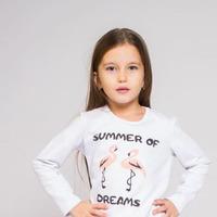 Комплект с юбкой Фламинго / Белый
