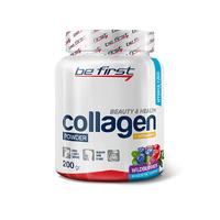 Гидролизованный коллаген+ Витамин С для кожи, связок и суставов Be First Collagen + vitamin C powder 200 гр, лесные ягоды