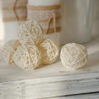 Декоративные шарики из ротанга