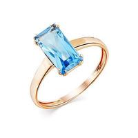 Золотое кольцо с натуральным топазом - 01-3-116-1300-010