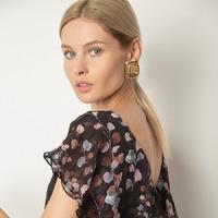 Шифоновое платье с принтом PL896/ervina