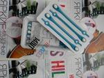 *Голубой/белый (Шнурки силиконовые HILACES)