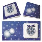 Рождественская звезда (синяя) - открытка