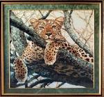 """Набор для вышивания арт.СС-937 Б """"Леопард"""" 60x60 см"""