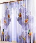 Фотошторы Белая Орхидея (габардин)