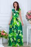 Платье Трикотаж зеленые цветы. РАСПРОДАЖА