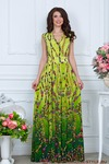 Платье Трикотаж зеленый цепочки. РАСПРОДАЖА