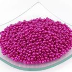 Бусины MAGIC HOBBY круглые перламутр 4мм цв.137 розовый уп.50гр (1800 шт)