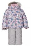 Hocus зимний комплект для девочки ЛИЛИЯ HCS-314 принт голубой-розовый