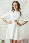 Платье белое трикотажное фукра
