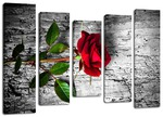"Модульная картина ""Роза""."