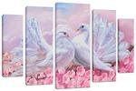 "Модульная картина ""Белые голуби"" 120х80 см"