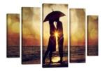 """Модульная картина """"Под зонтом"""" 120х80 см"""