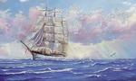 """Репродукция """"Океан"""" в рамке 33х70 см"""