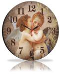 "Круглые часы - картина ""Ангелы"""