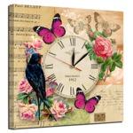 "Часы-картина на холсте ""Птица"" 50х50 см"