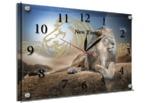 "Часы-картина под стеклом ""Лев"" 25х35 см"