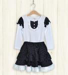 Костюм для девочки(кофта+юбка), кулирка