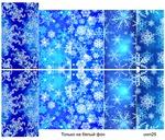 Слайдер-дизайн премиум Зима, Новый Год, снежинки uwn25