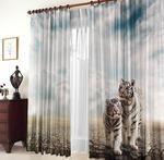 Фотошторы Белые тигры (габардин)