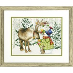 Dimensions Needlecrafts Dimensions Ornamental Reindeer Counted Cross Stitch Kit, 70-08947