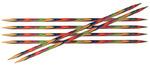 """KNPR.20119 Knit Pro Спицы чулочные """"Symfonie"""" 3мм/20см, дерево, многоцветный, 6шт в упаковке"""