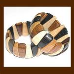 Браслет деревянный, модель «Треугольники малые»