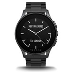 Vector Watch Luna Smartwatch-30 Day+ Autonomy, 5ATM, Notifications, Activity Tracking - Black Case/ Black Bracelet-Elegant