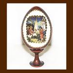 Яйцо пасхальное, деревянное, малое, «Рождество Христово»
