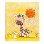 """Одеяльце-плед """"Апельсиновый жираф"""" 100x110"""