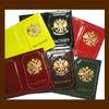 Обложка для паспорта, модель «Герб России», натуральная кожа,