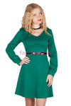 Платье Джерси Офис Зеленый