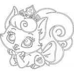 Трафарет Кошка принцесса