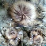 Помпон из меха енота натуральный 13-15 см