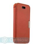Чехол-книжка кожаный i-Carer для iPhone SE/ 5S/ 5 luxury series side-open (RIP514red) Оранжевый
