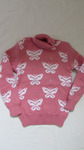 свитер бабочки двойная вязка рост 116-122