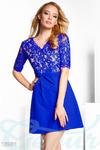 Коктейльное комбинированное платье 42 44 46