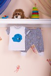 Костюм(футболка с принтом+брюки) Арт.4/1408-ИП
