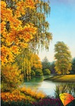 """Набор для изготовления картины стразами """"Осенью"""""""