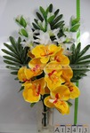 А12413 Букет орхидея каскад с гладиолусами