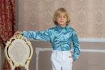Рубашка нарядная, цвет голубой
