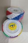 Булавка портновская, цветные (цена за бобину 480 шт)