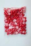 Бусинки половинки под жемчуг 10 мм 50 гр (красный)