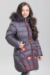 Зима. Пальто для девочек, иск. пух