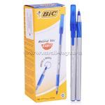 """Ручка шариковая BIC """"Round Stic Exact"""", корпус серый, синие детали, толщ. письма 0,35мм,918543,синяя   159900"""