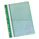 Папка 10 вкладышей STAFF с перфорацией, мягкая, зеленая, 0,16мм, 224975  Код: 159886