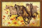 """Набор для вышивания арт.СС-1064 """"Табун лошадей"""" 30x60 см"""