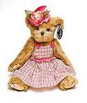 "Игрушка ""Bearington"" Мишка в клетчатом сарафане и цветком-36 см (143210)"