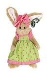 """Игрушки серии """"Bearington"""" Зайка в салатовом платье с розовым бантом 25 см ( 420172)"""