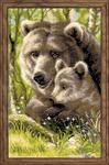 """Набор для вышивания крестом """"Медведица с медвежонком"""""""